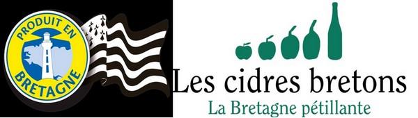 1/Drapeau produit en Bretagne; Logo ©  CidresBretons