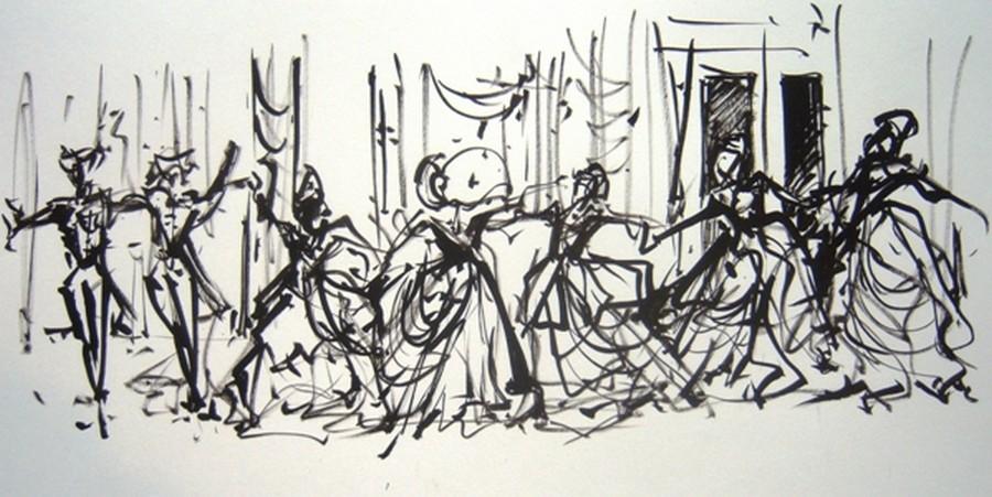 """Toile intitulée """"La belle au bois dormant """"..   © David Raynal"""