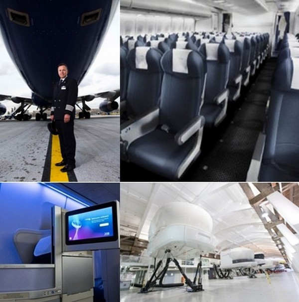 Lors des cours les participants sont invités à  monter à bord d'un simulateur de vol afin de mettre en pratique leurs acquis. © British Airways