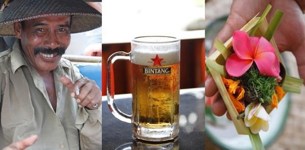 """La cigarette locale  """"Kretreck"""" aux clous de girofle en sirotant la bière locale également le tout en goûtant au Kasbi, du manioc cuit. © Loïck Ducrey"""