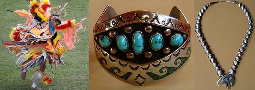 Le Wak Pow Wow © Danielle Lorenz; est le  rassemblement annuel de la communauté indienne Tohono O'odham; Danses, expositions de magnifiques bijoux en argent ornés de turquoises,  la pierre sacrée des indiens. © art-amerindien.com