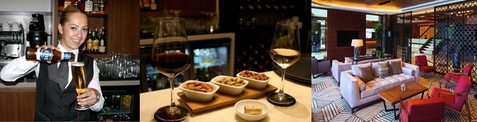 Une soirée au « Golden Horn » ne saurait s'achever sans un dernier 'Drink' au « Lobby Lounge & Bar ».© Mövenpick Golden Horn et Richard Bayon