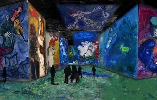 Cette mise en lumière est  une façon de vivre la peinture en se déplaçant, en pénétrant dans l'œuvre proposée ici dans une approche tridimensionnelle. copyright ADAGP Paris 2016