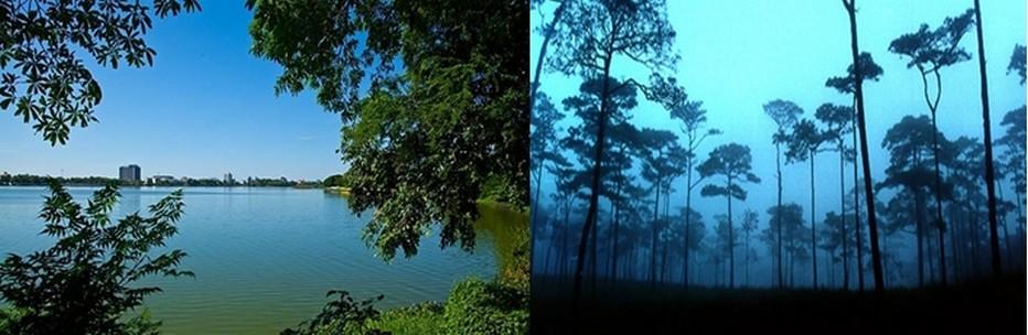 De gauche à droite des paysages de rêve : 1/ Vue sur Khon Kaen et découverte d' une forêt magique  à Phitsanulok © VisitThaïlande