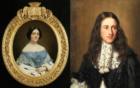 De gauche à droite : Portrait de la Comtesse de St Paterne  @museesduMans ; Portrait famille  Chigi @GillesKervella