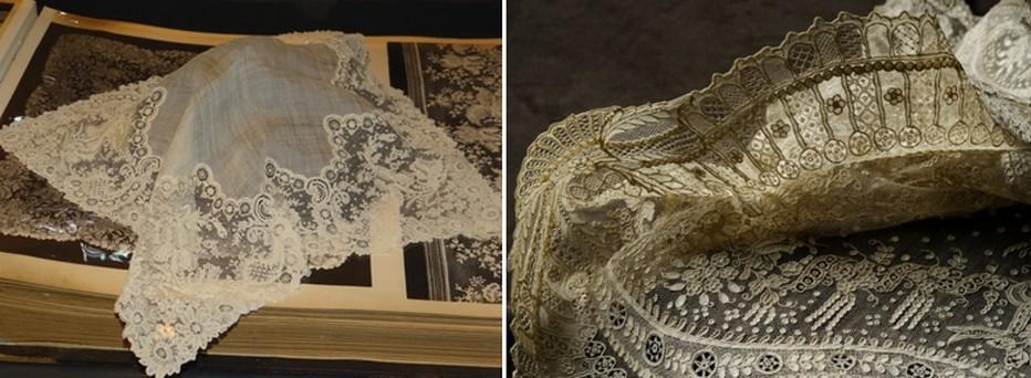 Quelques oeuvres en dentelle d'Alençon exposées au Musée. ©CDT Orne
