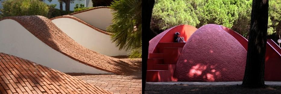 Cinquante ans après sa création, La Grande Motte a  conquis, grâce aussi à la verdoyance touffue de sa végétation, ses lettres de noblesse et mérite ce label de Patrimoine du XXè siècle © O.T. Grande Motte