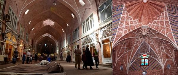 Le bazar de Tabriz figure parmi les plus grands marchés couverts du monde. © Wikipedia Commons