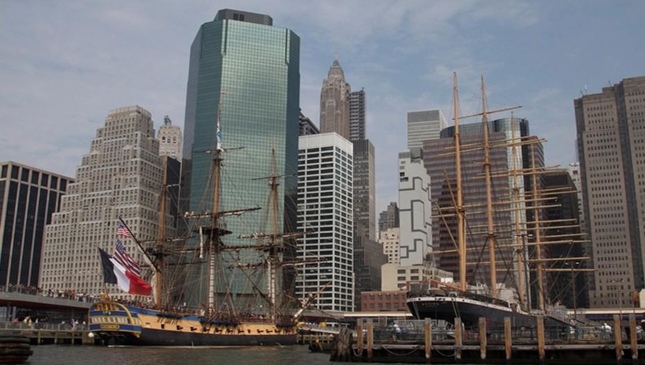Arrivée à New York de l'Hermione.  © Commémoration La Fayette ,Astion
