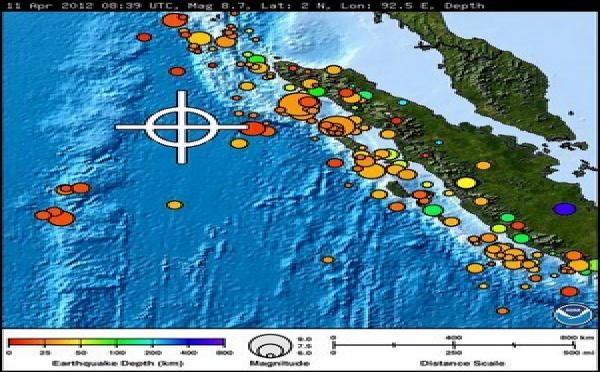 Suite au Séisme sur une île de la Côte Ouest de l'Indonésie : Alerte au tsunami dans tout l'Océan Indien
