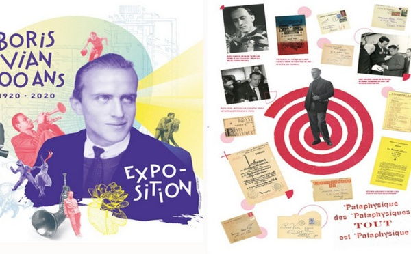 Les timbres voyagent et nous font voyager…Un timbre pour le centenaire de la naissance de Boris Vian.